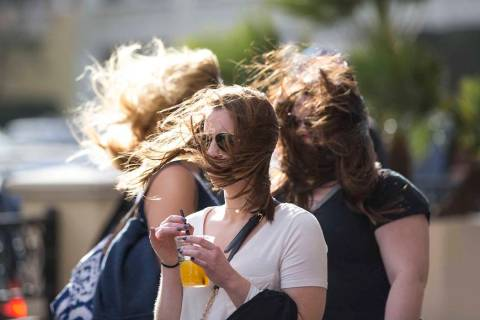 Gusty winds will return to the Las Vegas Valley on Tuesday. (Richard Brian/Las Vegas Review-Jou ...