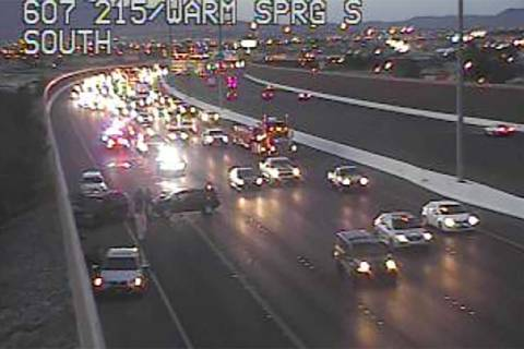Crash at 215 Beltway and Warm Springs Road (RTC Cameras)