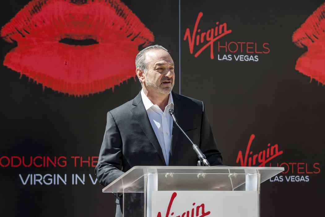 "Virgin Group Partner and Property CEO Richard ""Boz"" Bosworth speaks at a press confer ..."