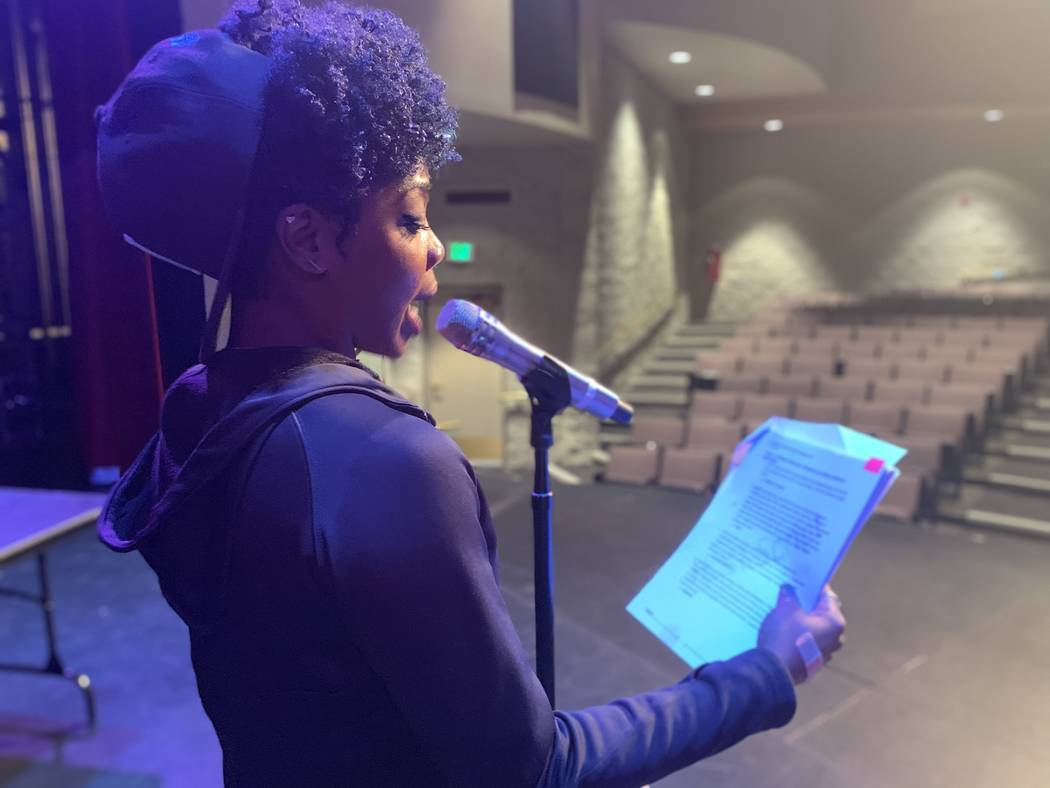 The moderator for the challenge, Lady AK, asked students questions about African American Histo ...