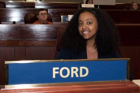 Naomi Atnafu, 17, is seen in Carson City after she became a youth legislator. (Naomi Atnafu)