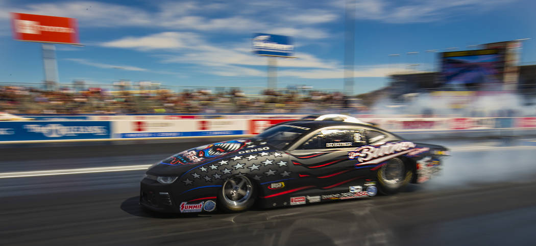 Pro Stock winner Bo Butner blasts out of the start during the NHRA Mello Yellow Drag Racing Ser ...
