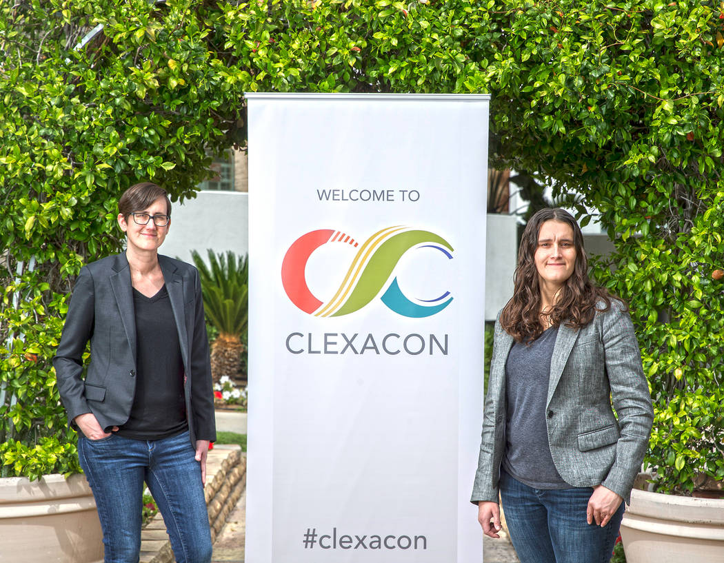 ClexaCon co-owners/directors Danielle Jablonski, left, and Ashley Arnold at Flamingo on Monday, ...