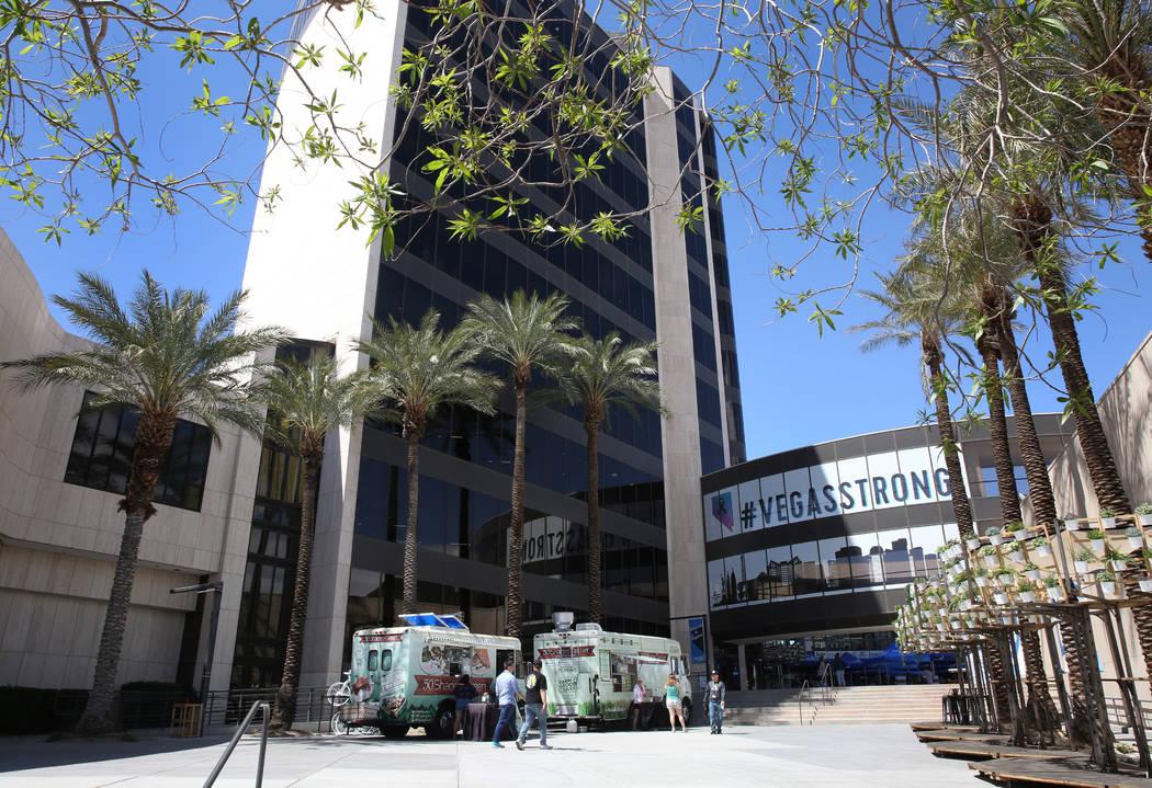 Zappos' headquarters in downtown Las Vegas. Bizuayehu Tesfaye Las Vegas Review-Journal @bizutesfaye