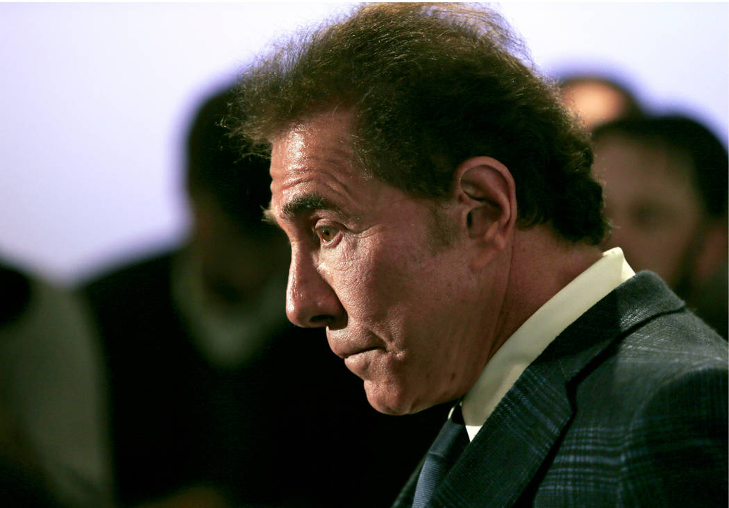 FILE - In this March 15, 2016 file photo casino mogul Steve Wynn appears during a news conferen ...