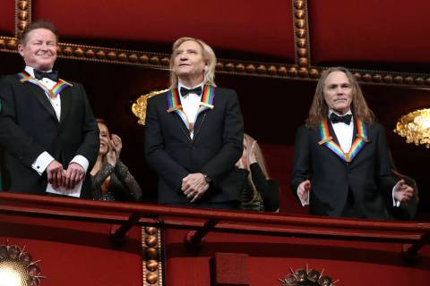 Recipients of the 2016 Kennedy Center Honor award, the members of the Eagles band, from left, D ...