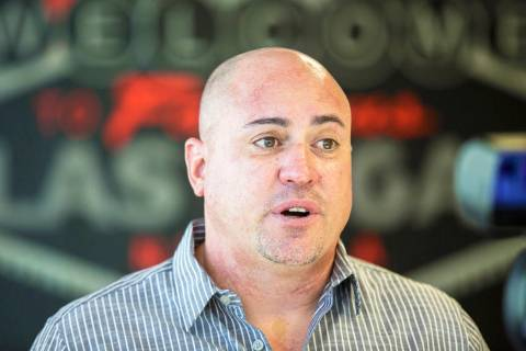 UNLV football coach Tony Sanchez discusses his incoming recruiting class on Wednesday, Feb. 6, ...