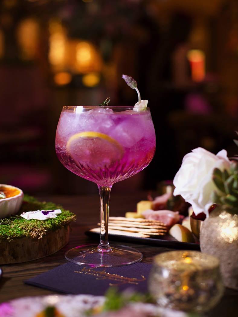 "The ""Giggy Tonic"" cocktail at Vanderpump Cocktail Garden at Caesars Palace. (Caesars Entertainment)"