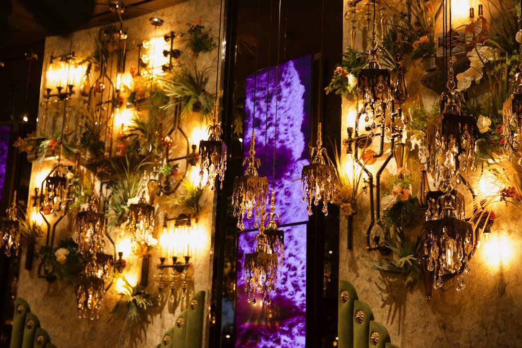 The interior of Vanderpump Cocktail Garden at Caesars Palace. (Caesars Entertainment)