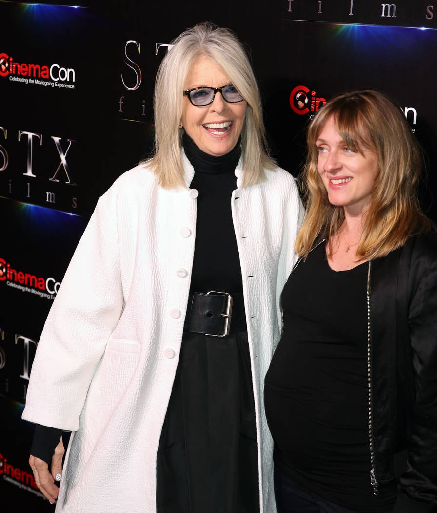 Actress Diane Keaton, left, and director Zara Hayes from Noms arrive at CinemaCon red carpet at ...