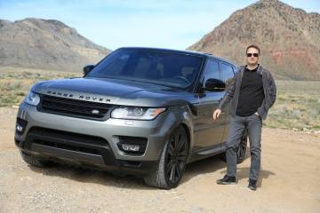 Las Vegas businessman Rick Fassina enjoys the outdoors of the Southern Nevada desert in his 201 ...
