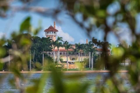FILE - This Nov. 23, 2018 file photo shows President Donald Trump's Mar-a-Lago estate behind ma ...