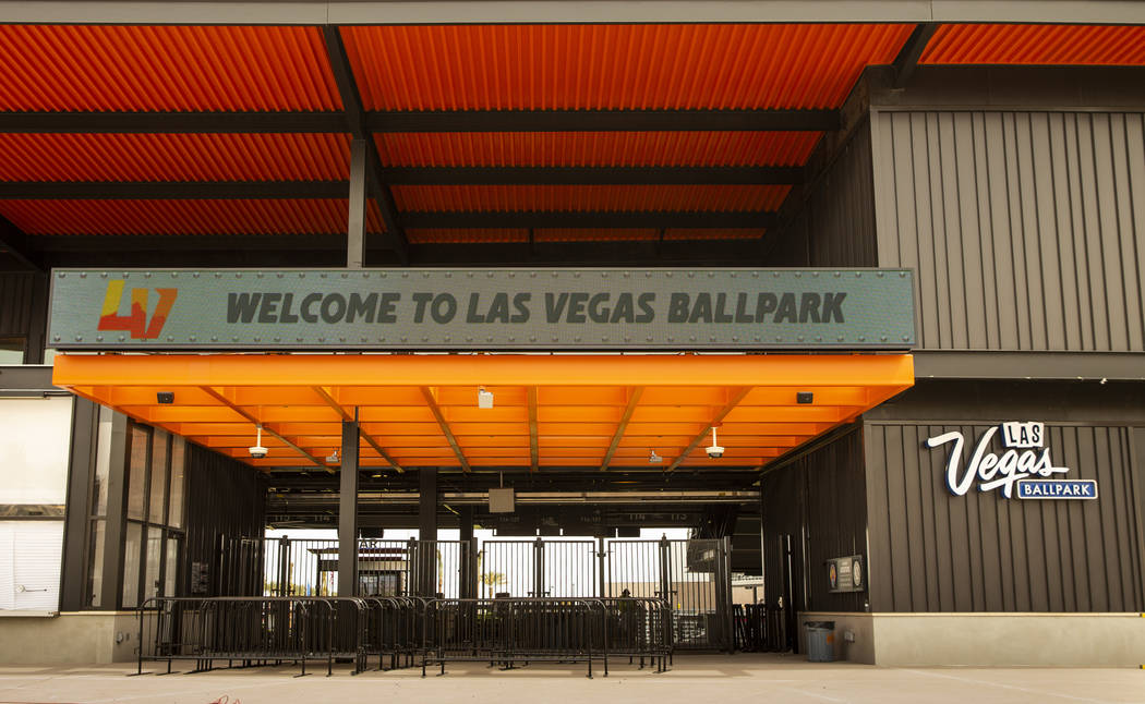 Exterior of the Las Vegas Ballpark on Monday, April 8, 2019, in Las Vegas. (L.E. Baskow/Las Veg ...