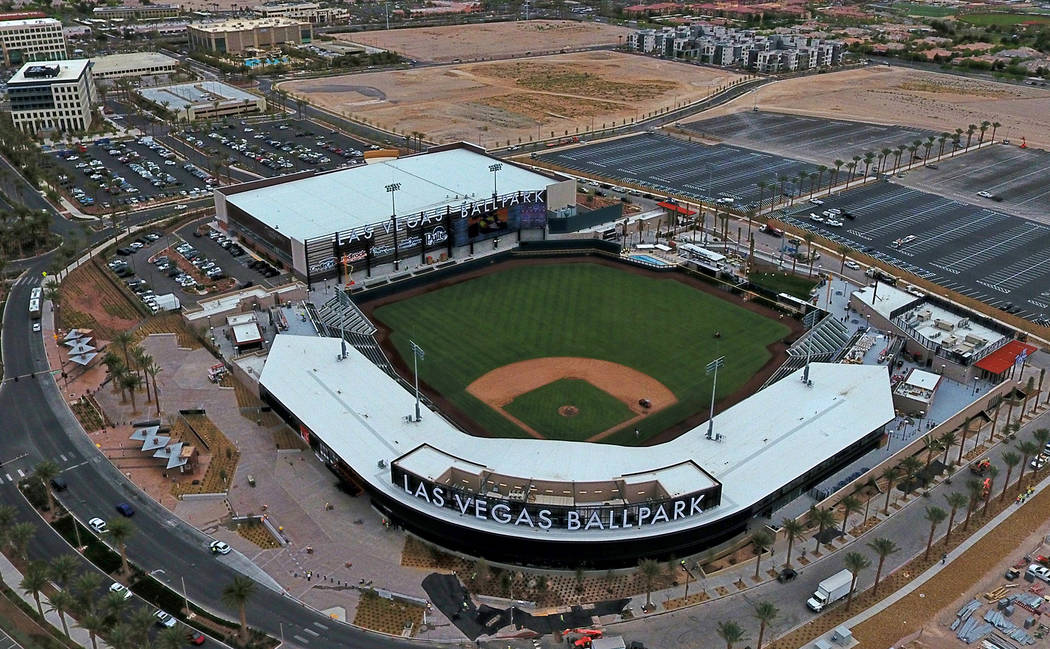 Las Vegas Ballpark pictured on April 8, 2019 in downtown Summerlin. (Michael Quine/Las Vegas Re ...