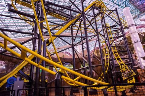 El Loco roller coaster in the Adventuredome at Circus Circus in Las Vegas on June 22, 2018. Cha ...