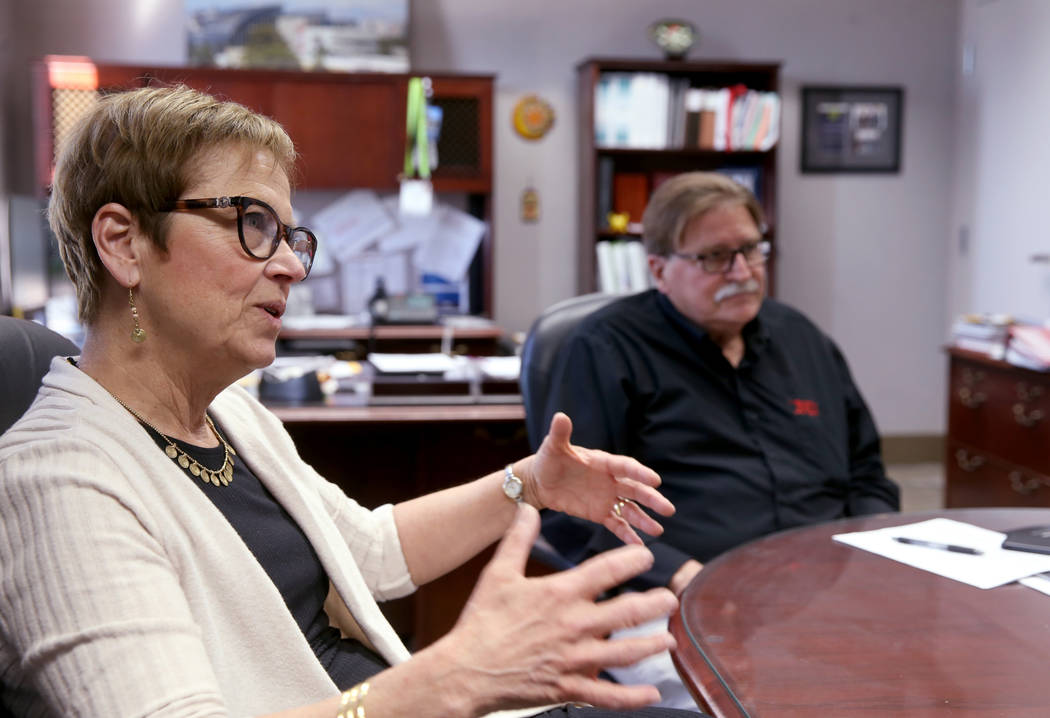 Husband and wife UNLV Anthropology professors Arlen and Diane Chase, who have excavated the May ...