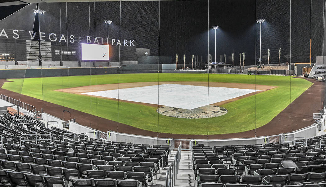 The Howard Hughes Corp. Las Vegas Ballpark opens on Tuesday, April 9 in Downtown Summerlin as t ...