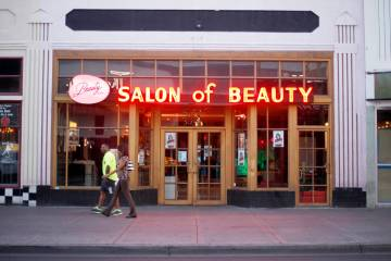 Beauty Bar is seen Tuesday, May 10, 2016 in downtown Las Vegas. Rachel Aston/Las Vegas Review-J ...