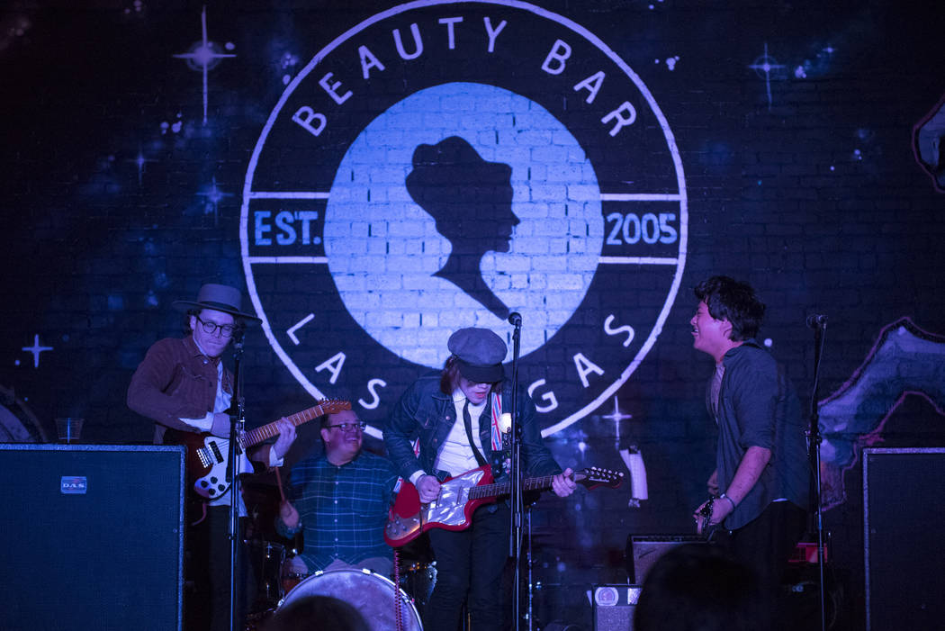 The Astaires performs at Beauty Bar during the third night of the Neon Reverb music festival in ...