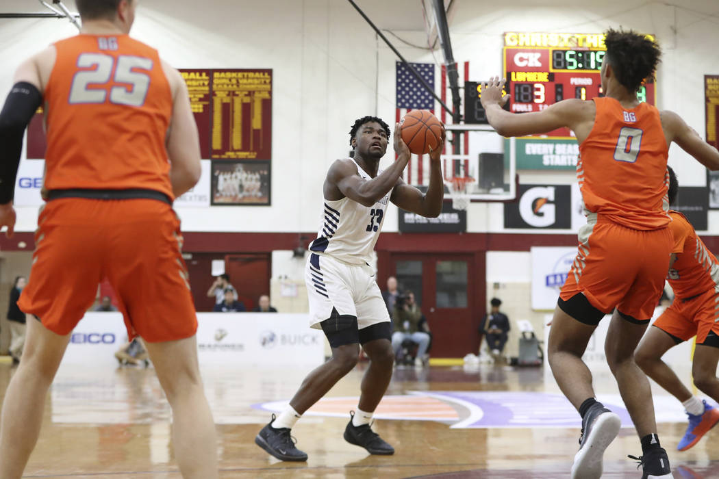 La Lumiere's Isaiah Stewart #33 in action against Bishop Gorman in a Boys Quarterfinal game at ...