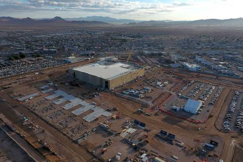 Aerial view of the Google Data Center under construction in Henderson, Nevada on Monday, March ...