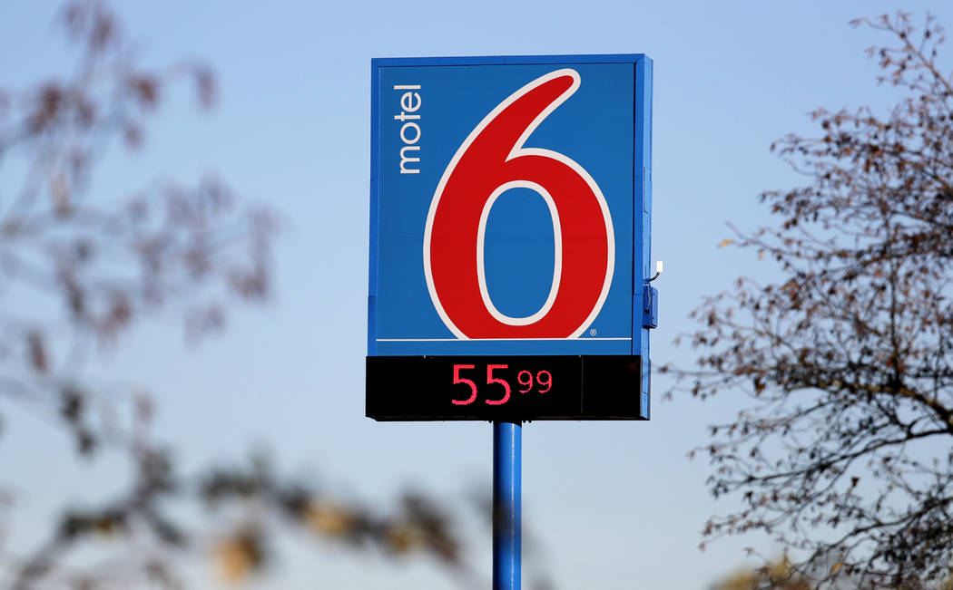 FILE - This Jan. 3, 2018 file photo shows a Motel 6 in SeaTac, Wash. he national chain Motel 6 ...