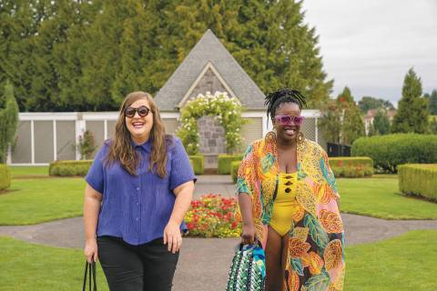 "Aidy Bryant and Lolly Adefope in ""Shrill."" (Hulu)"