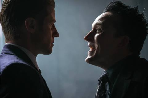 GOTHAM: L-R: Ben McKenzie and Robin Lord Taylor in the ÒRuinÓ episode of GOTHAM airin ...