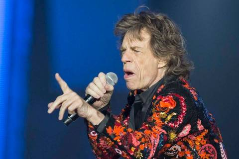In this Oct. 22, 2017 file photo, Mick Jagger of the Rolling Stones performs at U Arena in Nant ...