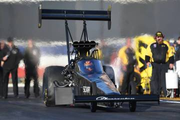 NHRA Top Fuel drag racing Mike Salinas competes in a recent event. (Photo by NHRA).