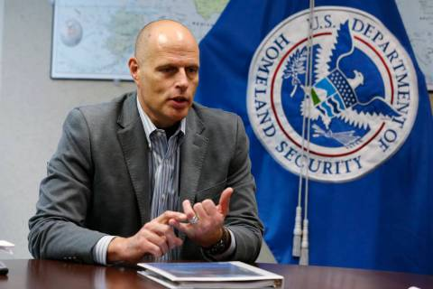 Acting ICE director Ron Vitiello gestures during a Nov. 9, 2018, interview in Richmond, Va. The ...