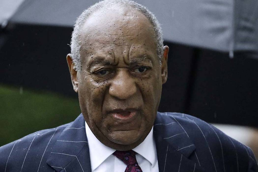 Bill Cosby arrives for a sentencing hearing Sept. 25, 2018, following his sexual assault convic ...