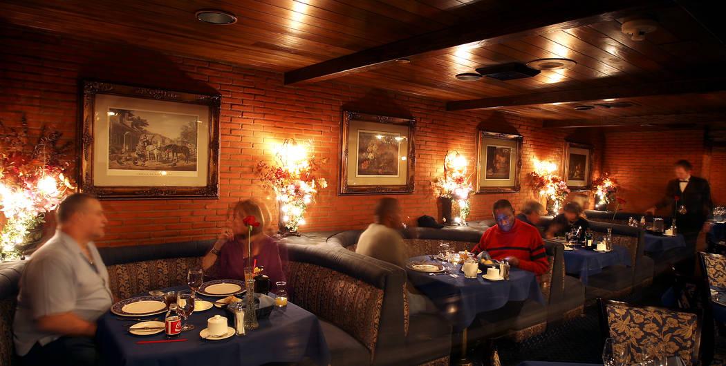 Hugo's Cellar restaurant inside the Four Queens in downtown Las Vegas. (John Gurzinski/Las Vega ...
