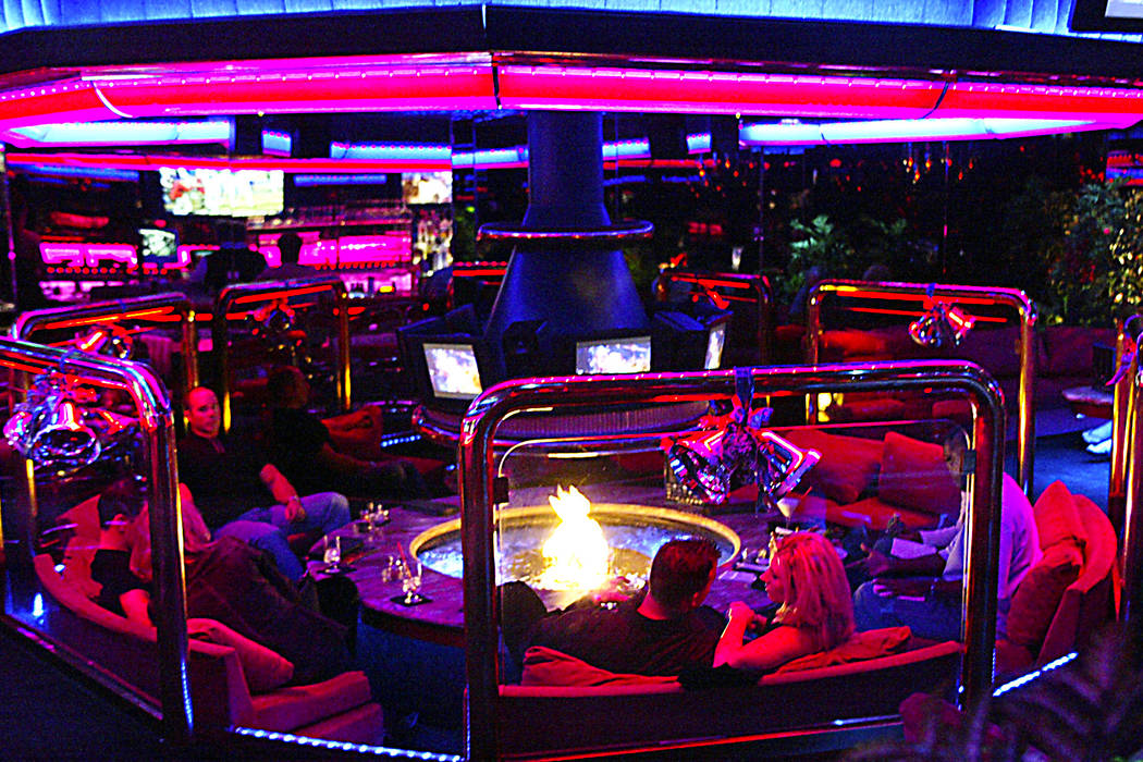 Interior of the Peppermill Fireside Lounge in Las Vegas. (Ralph Fountain/Las Vegas Review-Journal)