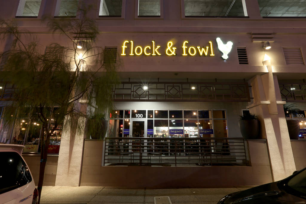 Flock & Fowl DTLV located inside The Ogden at Ogden Avenue and Las Vegas Boulevard in downtown ...
