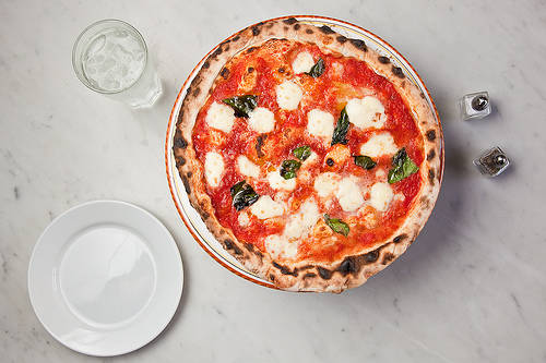 A margherita pizza from Pizza Rock in downtown Las Vegas. (Courtesy)