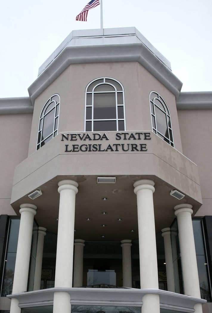 This Feb. 4, 2019, file photo shows the Legislative Building in Carson City. (K.M. Cannon/Las V ...
