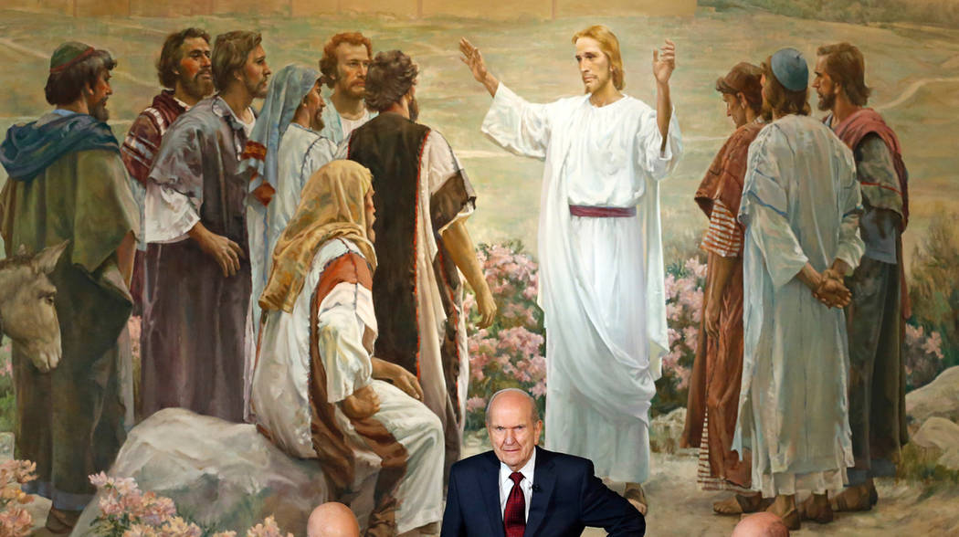 The Church of Jesus Christ of Latter-day Saints President Russell M. Nelson looks on following ...