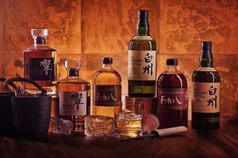 Some of the Japanese whiskies available at Zuma. (Zuma)