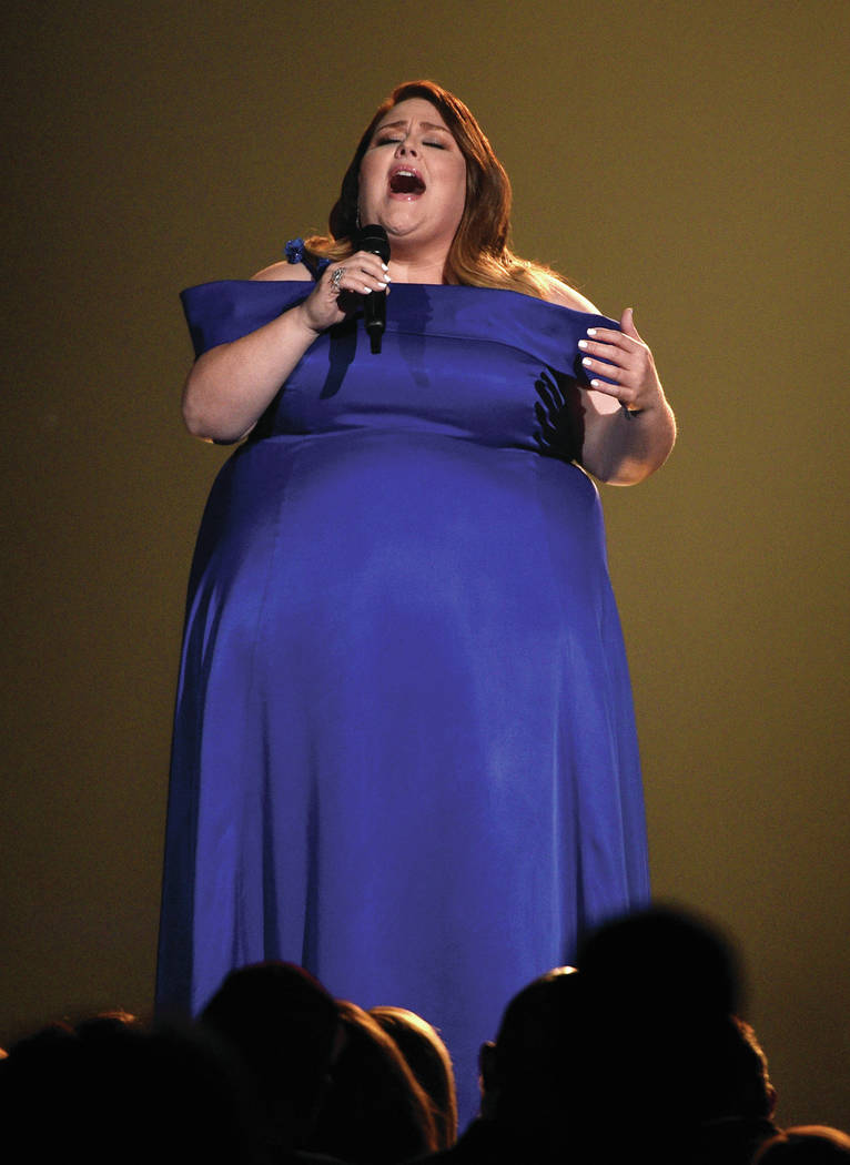 """Chrissy Metz performs """"I'm Standing with You"""" at the 54th annual Academy of Country M ..."""