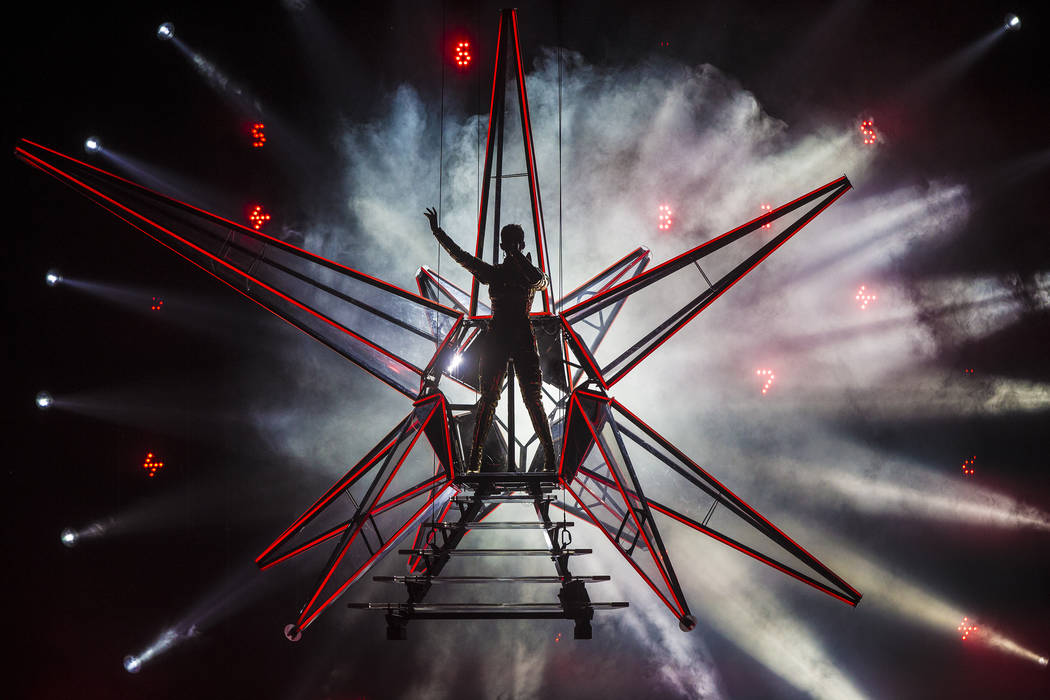 Katy Perry performs during her Witness Tour on Saturday, January 20, 2018, at T-Mobile Arena, i ...