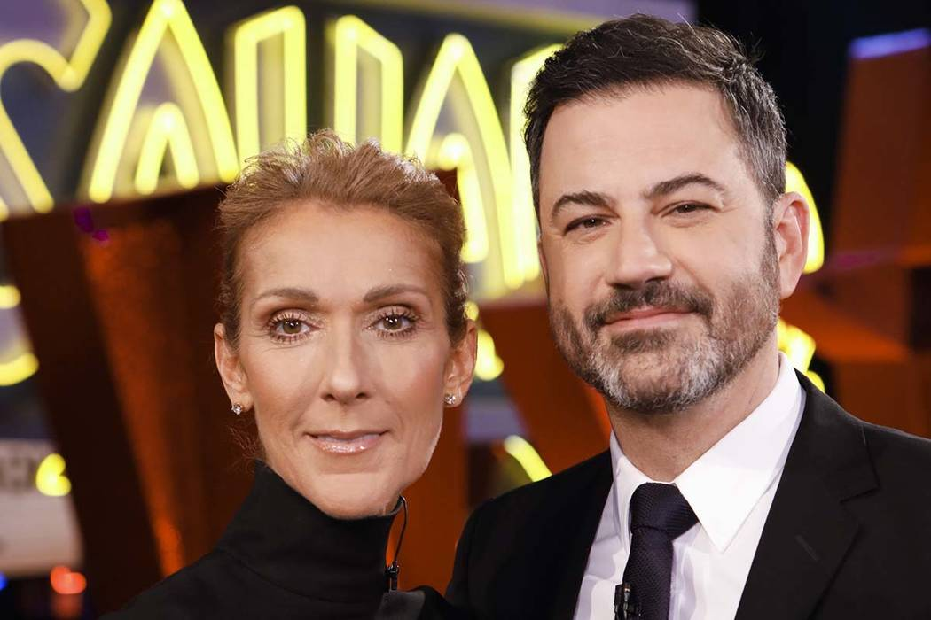 "Las Vegas entertainer Celine Dion joined Jimmy Kimmel on his show, ""Jimmy Kimmel Live!,"" when i ..."