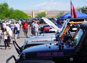 Jeep enthusiasts come together at fifth annual Big Bad Jeep Show at Chapman Warm Springs. (Chap ...