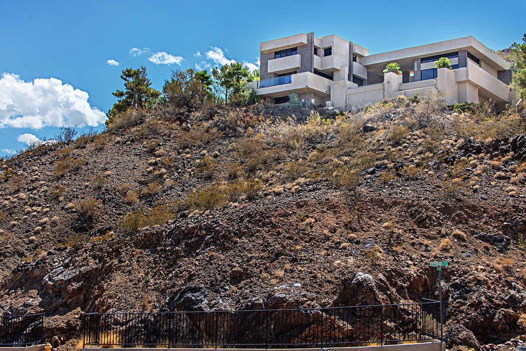 The three-level, 4,655-square-foot contemporary home incorporates several key Wright architectu ...