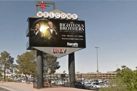 An Adomni digital billboard is shown near the University of Nevada, Las Vegas. (courtesy)