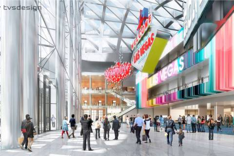 A design rendering, released April 10, 2018, showing how the Las Vegas Convention Center Distri ...