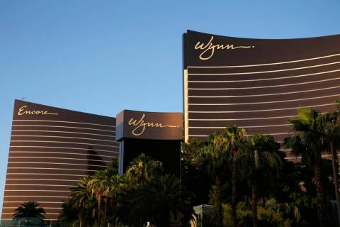 This June 17, 2014, file photo shows the Wynn Las Vegas and Encore resorts in Las Vegas. (John ...