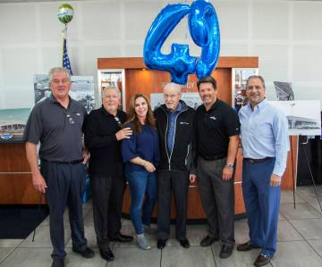 Friendly Ford celebrated the dealership's 49th anniversary with former and current employees: f ...