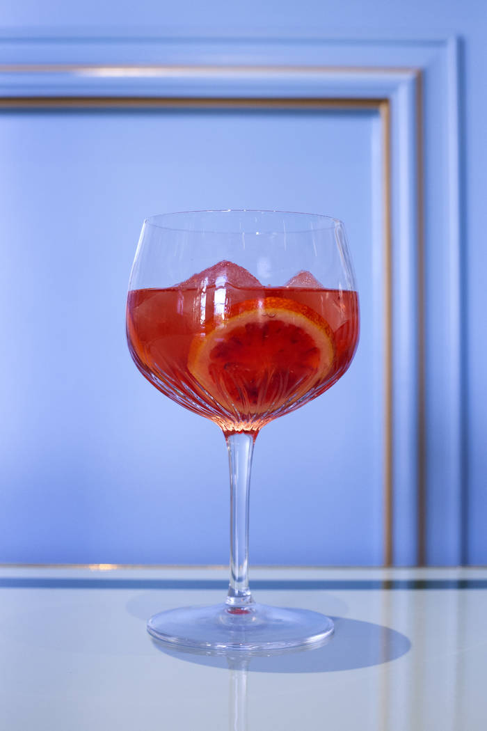 Blood Orange cocktail at Sadelle's