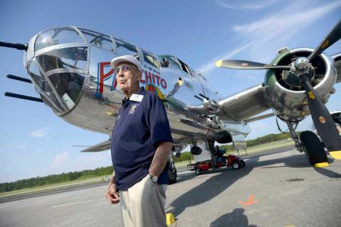 FILE - In this April 16, 2013 file photo, Doolittle Raider Lt. Col. Dick Cole, stands in front ...